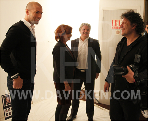 Zinédine Zidane, Dr Nathalie Cartier, Guy Alba et David Ken